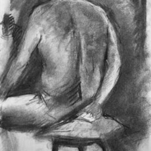 Back Sketch in Charcoal