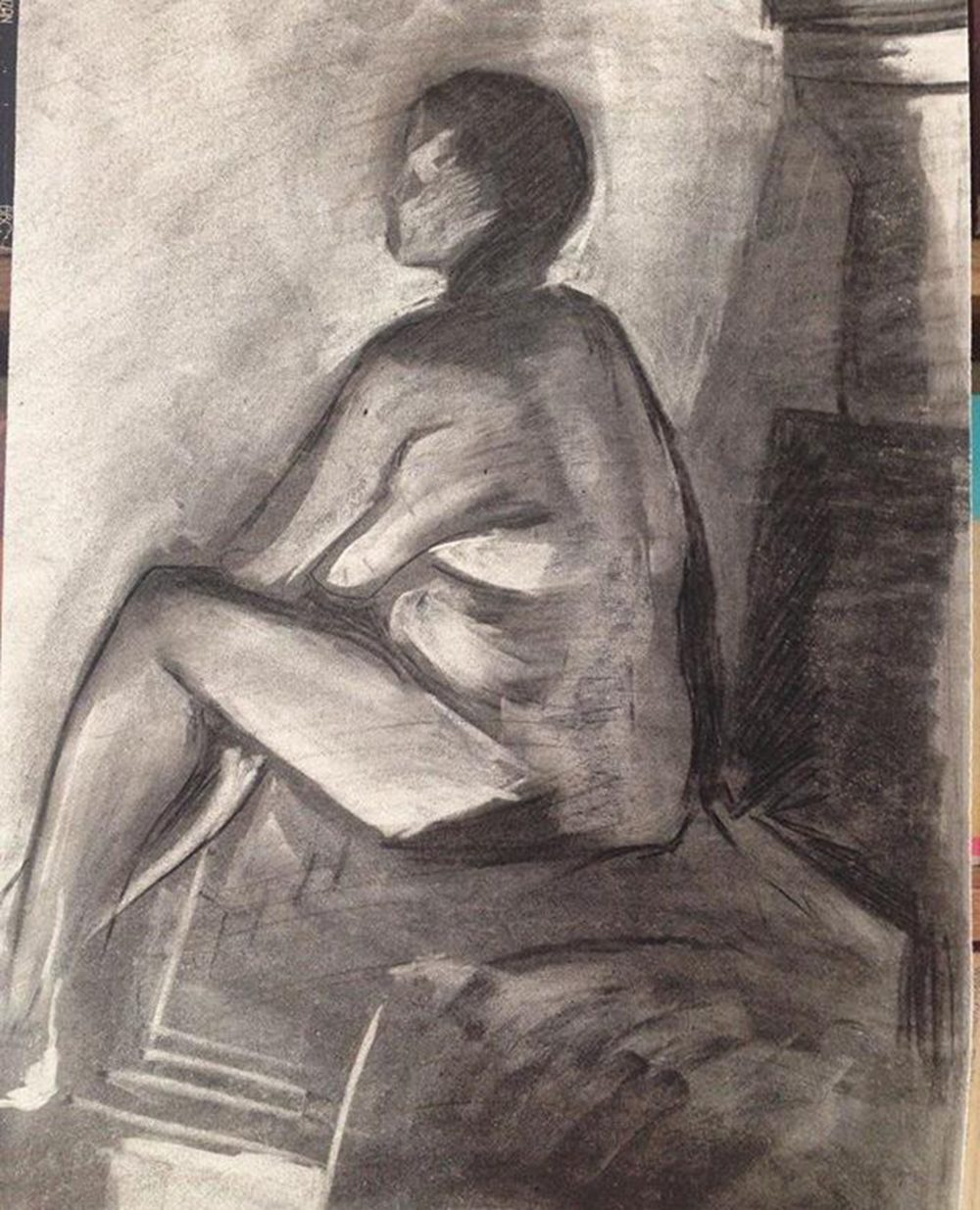 Female Figure in Charcoal