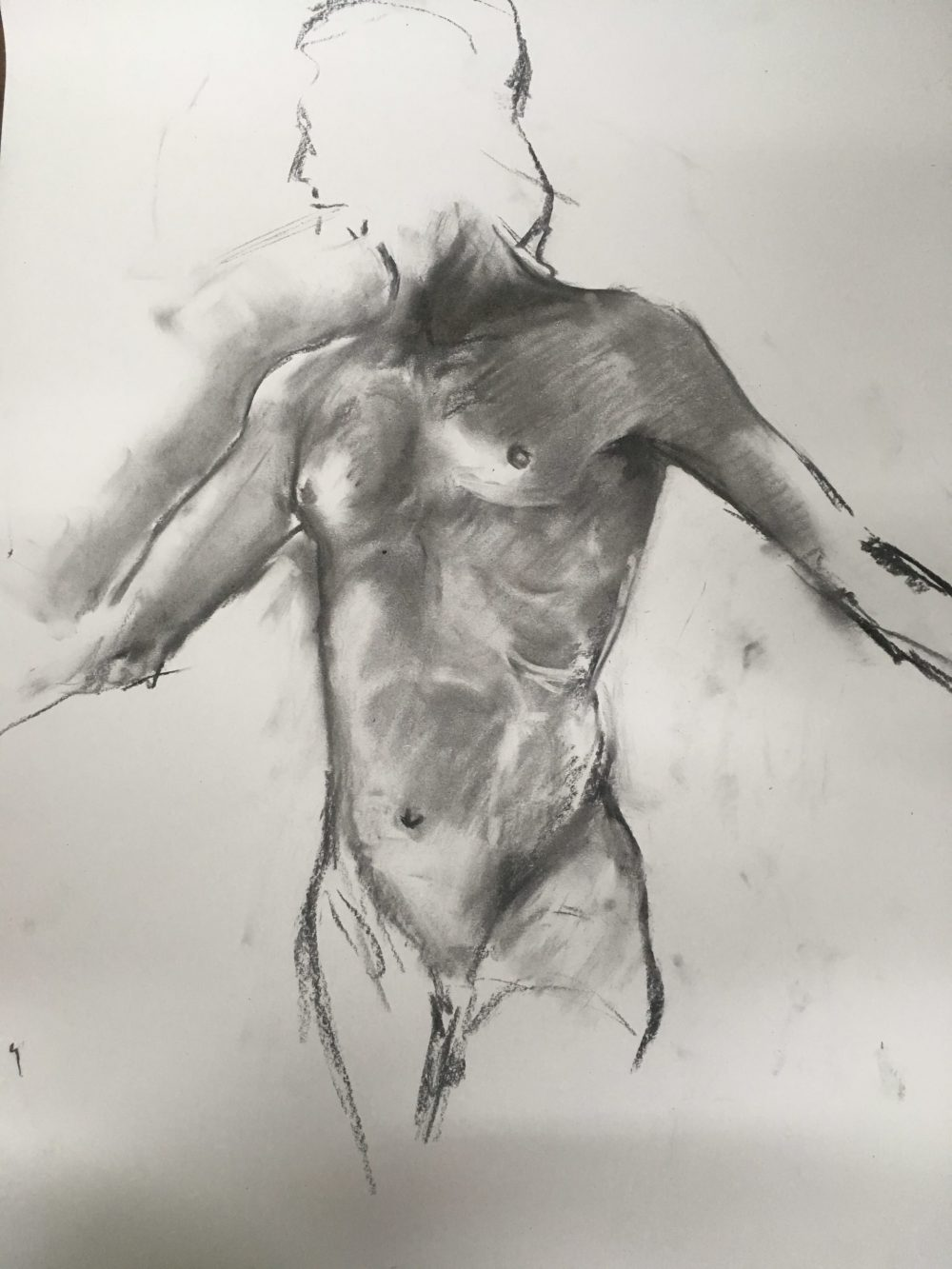 Quick Life Sketch in Charcoal
