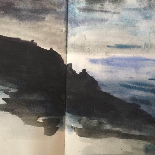 Cornish Coast ~ Watercolour