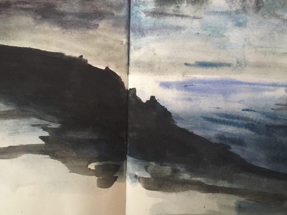 Cornish Coast ~ Watercolour