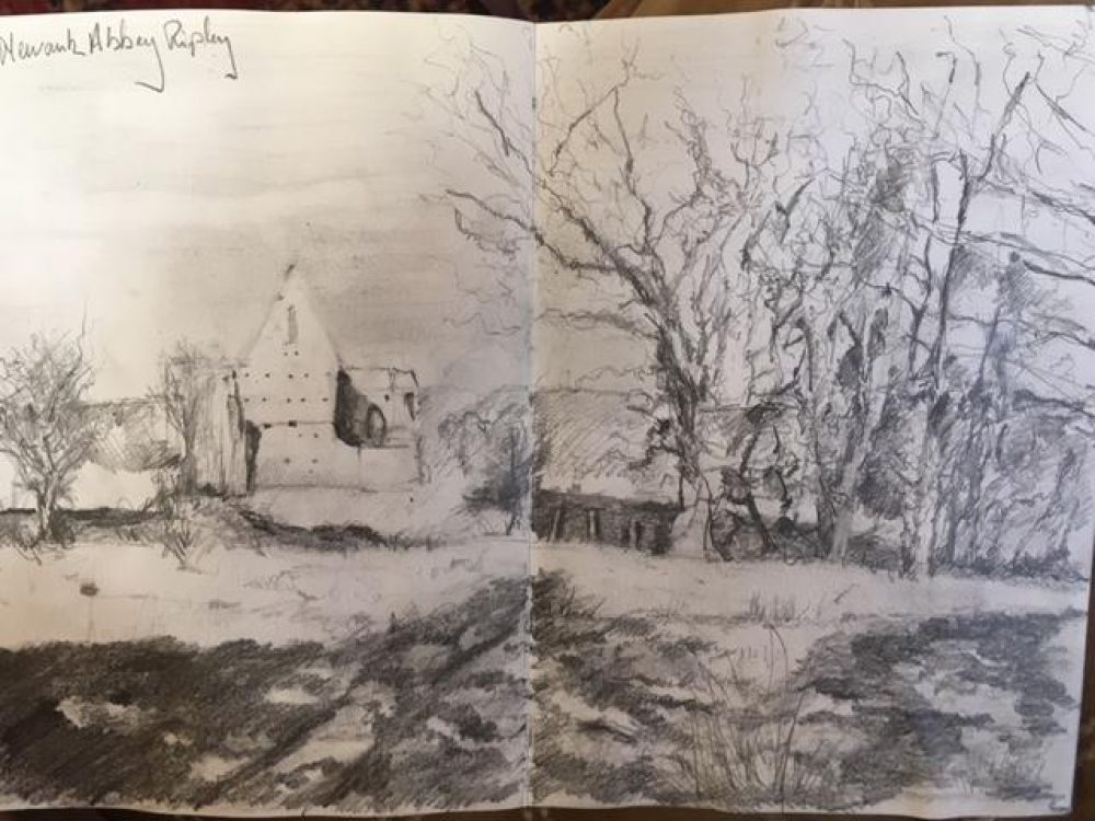 Newark Abbey ~ Sketch