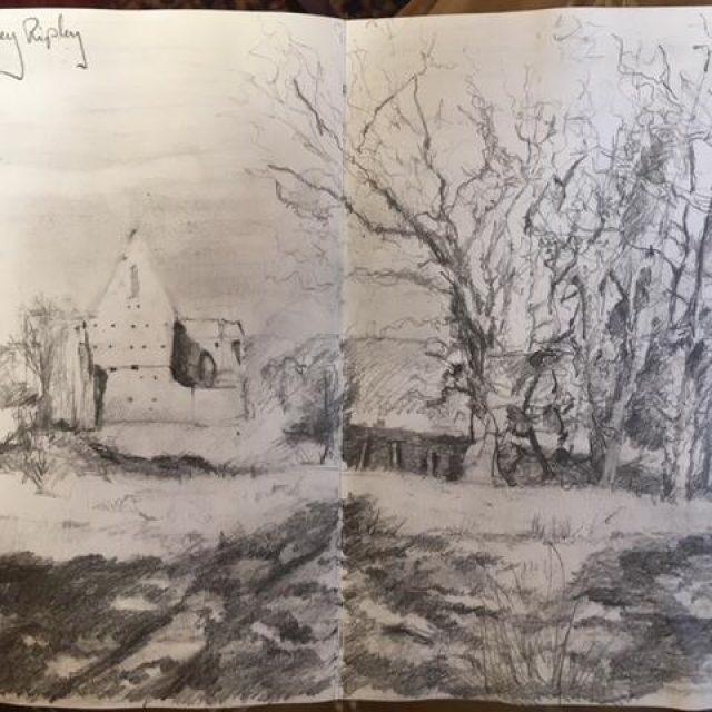 Newark Abbey ~ Sketch