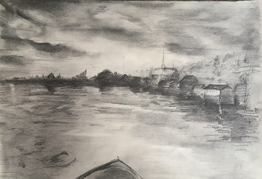 The Thames ~ Pencil Sketch