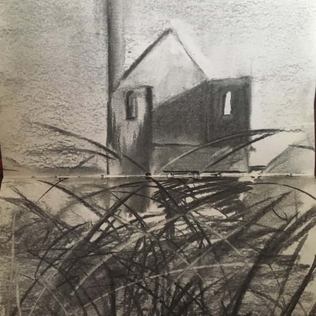 Pendeen Tin Mine in Charcoal