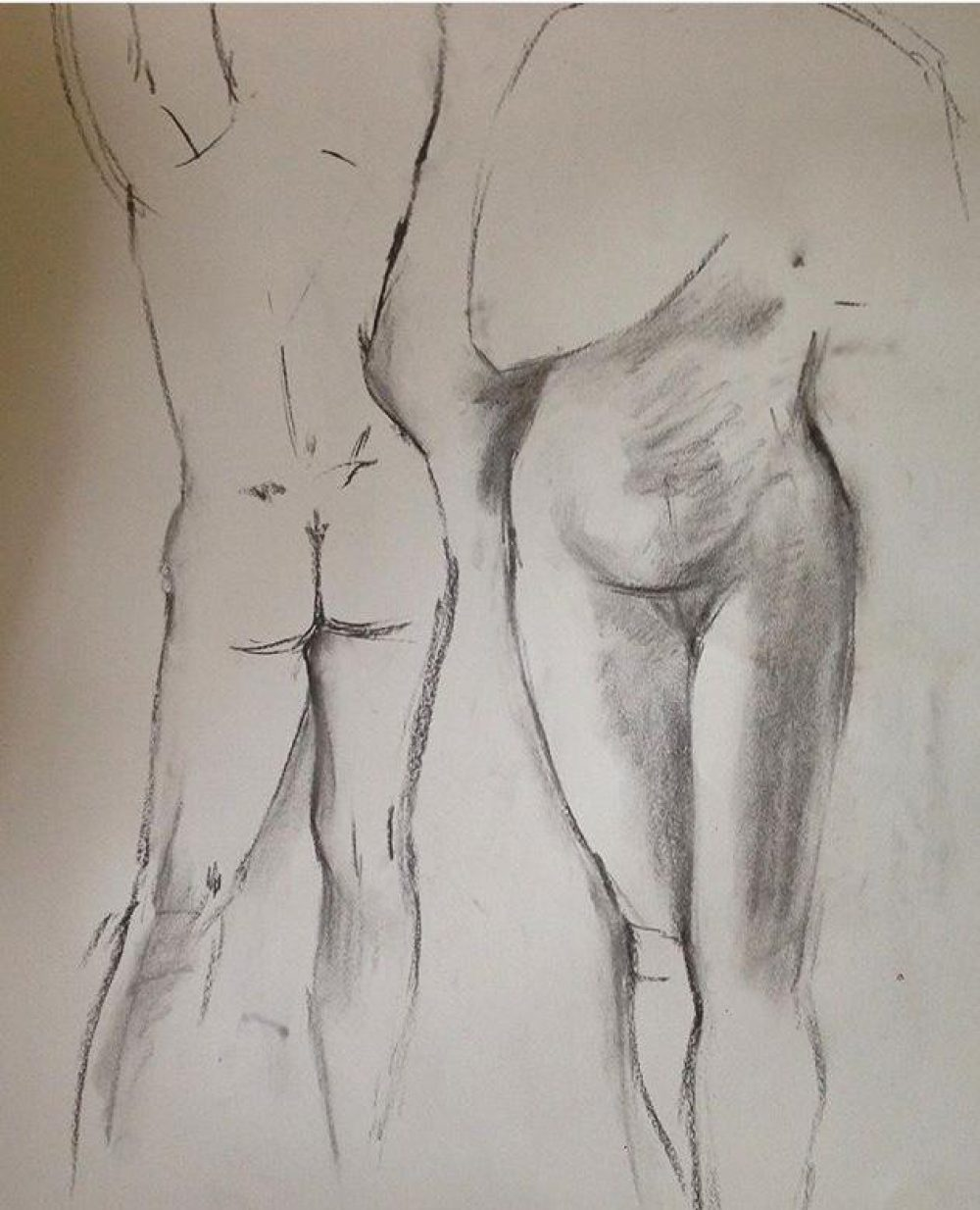 Life Drawing ~ Charcoal Sketch