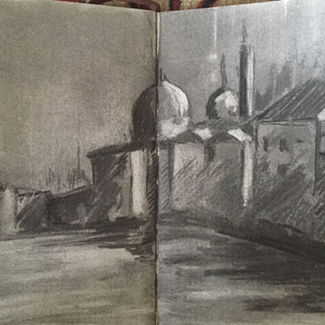 Venice ~ Charcoal Sketch
