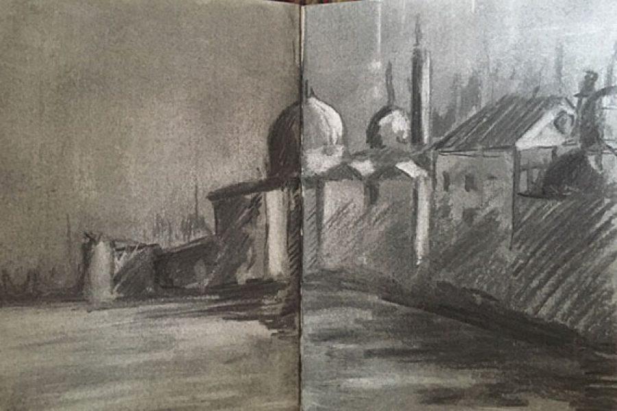 Venice ~ Charcoal Sketch
