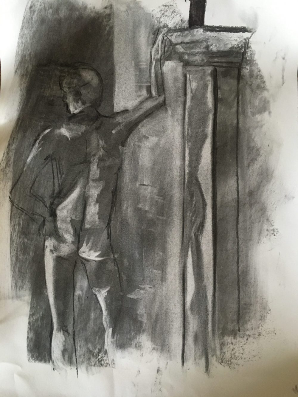 Male Figure in Charcoal