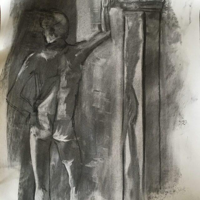 Male Figure in Charcoal